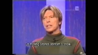 Bowie mimics  Jagger