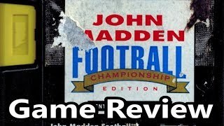 John Madden Football Championship Edition Sega Genesis Review - The No Swear Gamer Ep 520