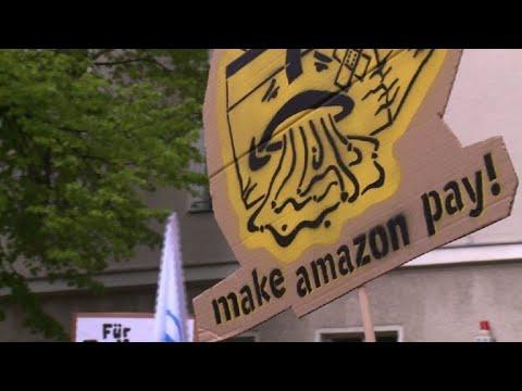Trabajadores de Amazon demandan derechos laborales en Berlín