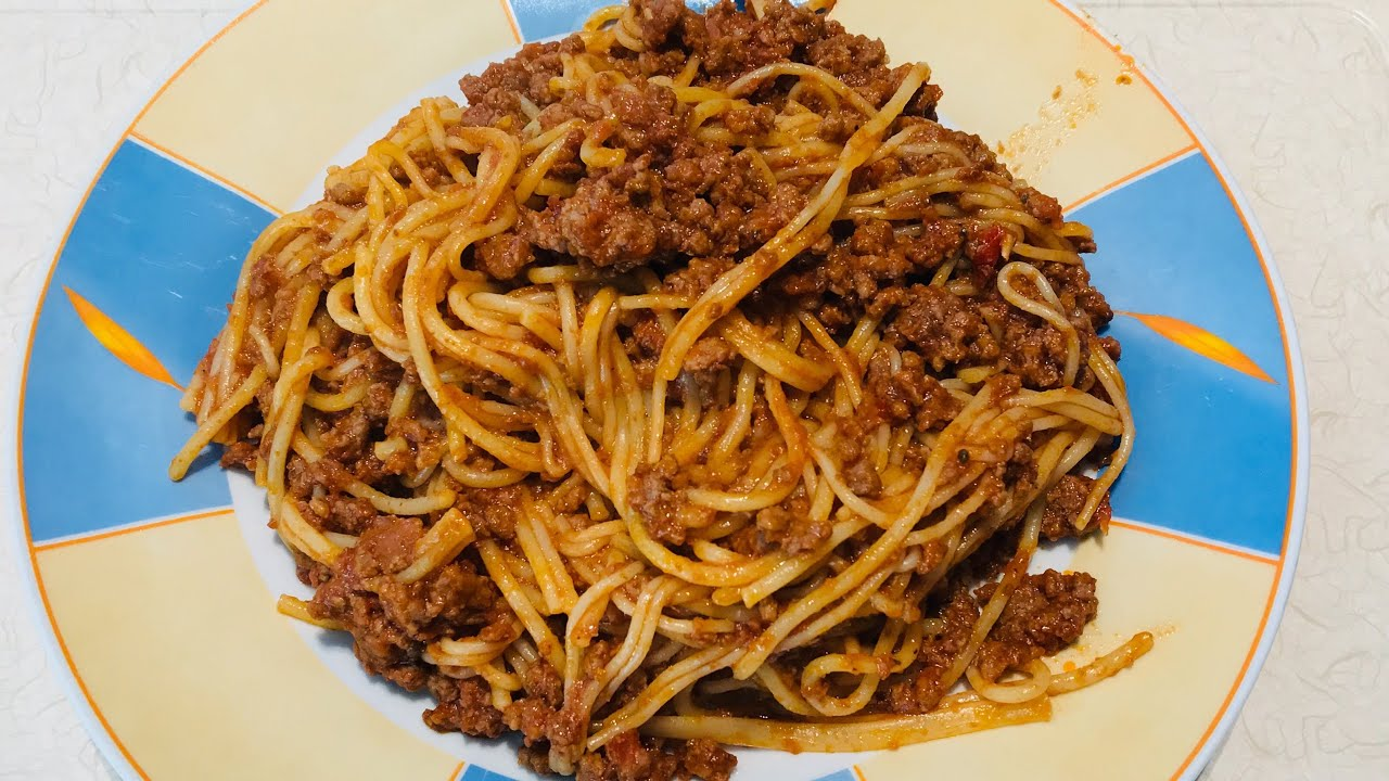 How To Make Delicious Spaghetti And Mincemeat Stew Spaghetti With Mince Meat Spaghetti Youtube