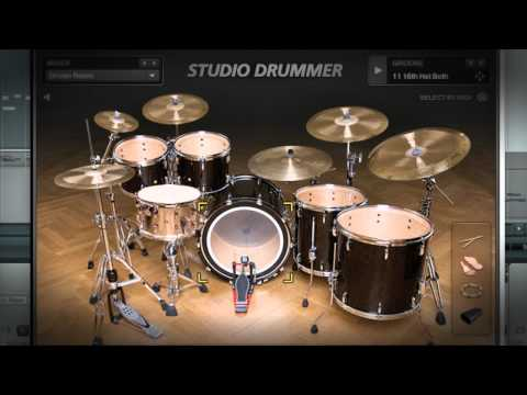 Native Instruments STUDIO DRUMMER | Native Instruments: More info: http://www.native-instruments.com/studiodrummer  STUDIO DRUMMER is the perfect realization of a drummer in software, with everything you need to create realistic acoustic drum tracks — top-of-the-line drum kits, detailed mixing options, and a ready-to-go groove library.   Link section:  Subscribe to our YouTube channel https://www.youtube.com/user/NativeInstruments  https://www.facebook.com/NativeInstruments  General info Native Instruments is a leading manufacturer of software and hardware for computer-based audio production and DJing. The company's mission is to develop innovative, fully-integrated solutions for all musical styles and professions. The resulting products regularly push technological boundaries and open up new creative horizons for professionals and amateurs alike.  For more info visit our website: https://www.native-instruments.com