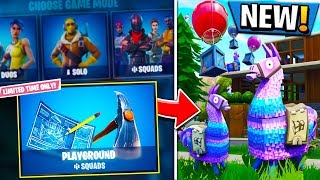 *NEW* PLAYGROUND MODE GAMEPLAY - Fortnite Battle Royale