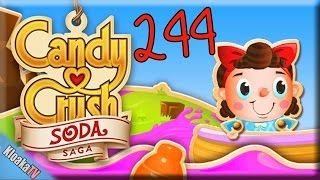 Candy Crush Soda Saga - Level 244 Gameplay Playthrough