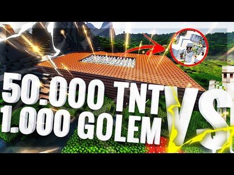 MINECRAFT: 50.000 TNT Vs 1.000 IRONGOLEM! [TNT CHALLENGE]