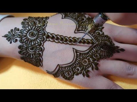 نقشة عصرية جميلة و موضيل جديد لرشمة الشبيكة Henna new illustration for a network stylist - New Henna Marocain kaouter