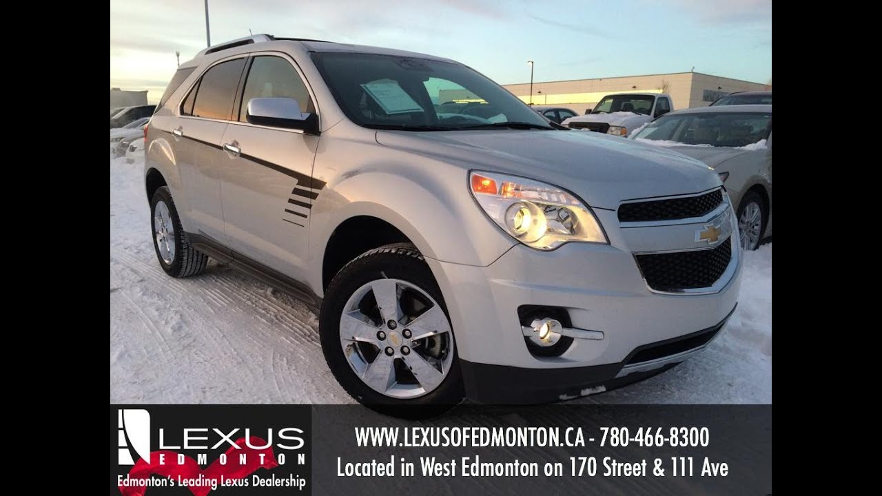 Used white 2012 chevrolet equinox awd ltz review airdrie alberta