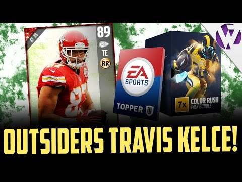 MADDEN 17 FOOTBALL OUTSIDERS TRAVIS KELCE!!! MADDEN 17 COLOR RUSH PACK OPENING