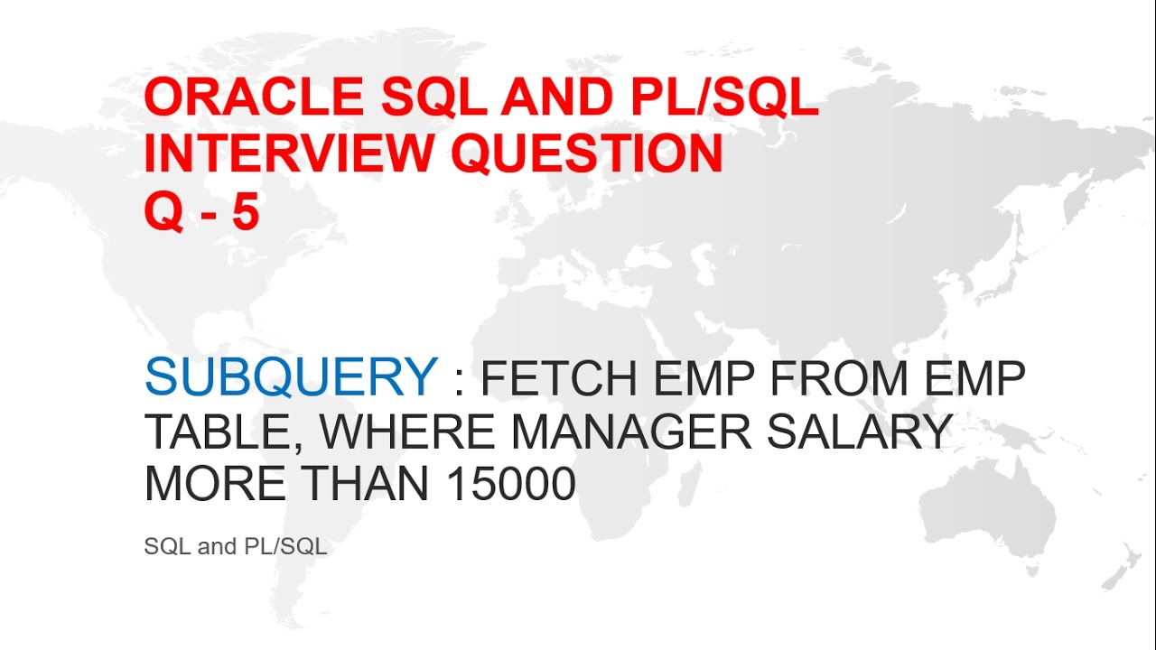 ORACLE SQL AND PL/SQL INTERVIEW QUESTION : SUBQUERY WITH IN / EXISTS OR  SELF JOIN