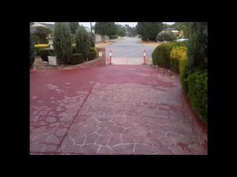 Repaint Concrete Driveway And Path Youtube