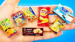 Мини Еда своими руками для Кукол | 7 Идей как сделать миниатюрную еду из легкого пластилина