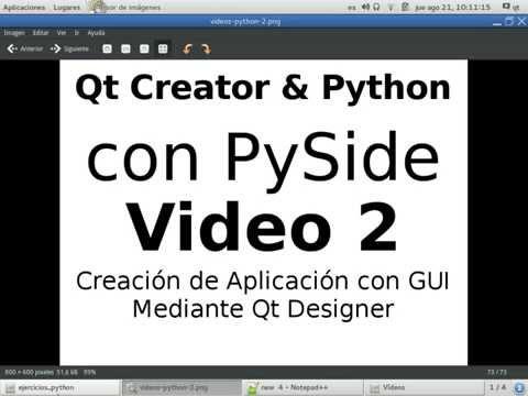 Python & PySide - Video 2 - Creación de Aplicación con GUI con Qt Designer