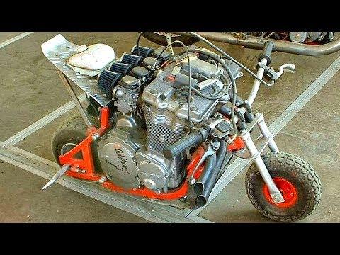 Мини мотоцикл своими руками видео