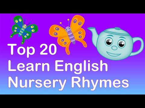 TOP 20 LEARN ENGLISH NURSERY RHYMES | 40 MINS LONG. Learning Playlist
