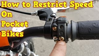How to Restrict Speed on Pocket Bike - 50cc, 49cc Mini Dirt Bike & Mini Motos