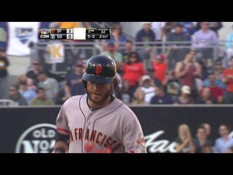 SF@SD: Crawford smashes three-run home run in second