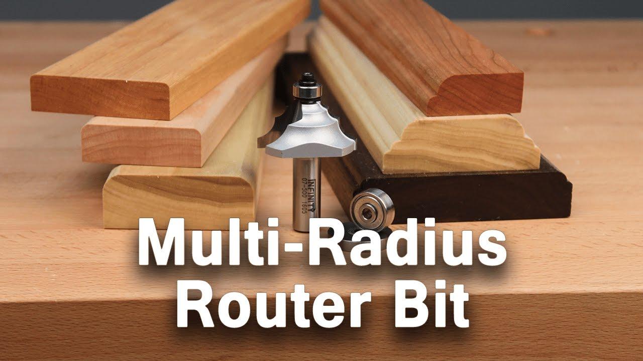 Create Unique Edge Profiles With The Multi Radius Router Bit Youtube
