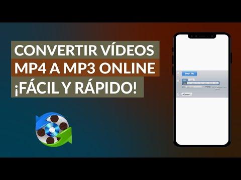 Cómo Convertir Videos MP4 a MP3 Online - Fácil y Rápido