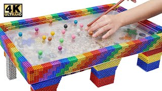 Most Creative - Make Snooker Table Aquarium From Magnetic Balls (Satisfying) | Magnet World Series