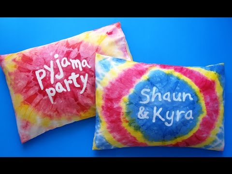 diy-tie-dye-pillow-case-|-crafts-for-kids-|-pyjama-party-|-oreiller-tie-dye-personnalisé