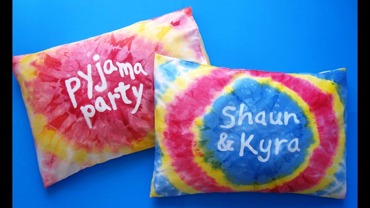 Diy Tie Dye Pillow Case Crafts For Kids Pyjama Party