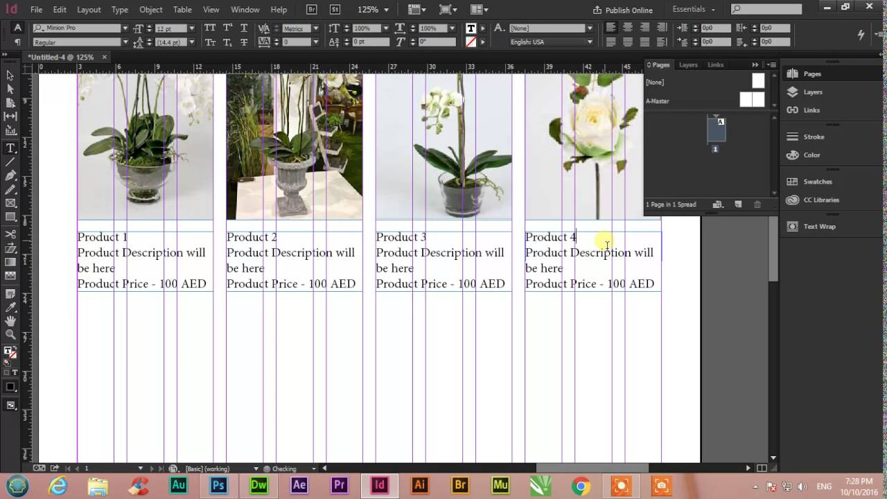 Professional 12 Columns Template In Adobe Indesign Cc Youtube