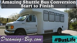 Amazing Shuttle Bus tiny home conversion