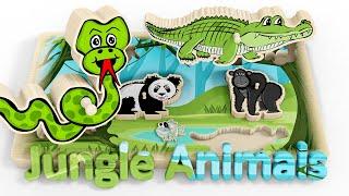 Puzzle dla dzieci ze zwierzętami w dżungli | CzyWieszJak