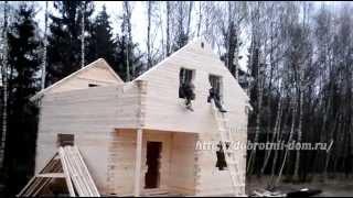 видео обработка антисептиком дома из бруса