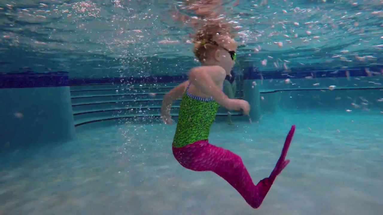 How To Get A Mermaid Into The Pool Youtube