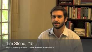 The Robins School asks Tim: Post-graduation plans?