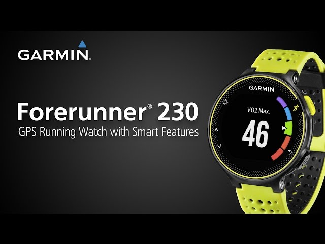 Forerunner 230: GPS Running Watch with Connected Features