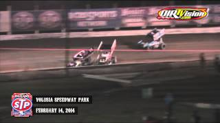 Highlights: World of Outlaws STP Sprint Cars Volusia Speedway Park February 14th, 2014