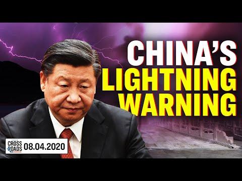 Huge Lightning Strikes China; Explosion Near Wuhan; US Prepares to Divorce China?