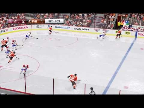 NHL 18 Flyers vs Canadians 2-20-18