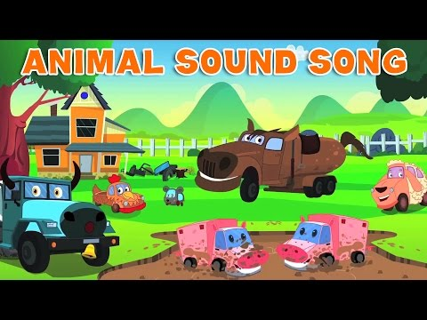 Animal Sound Song | Children's Songs | Car Video
