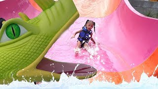 Outdoor Playground Fun Water Park For Kids! Family Amusement Park