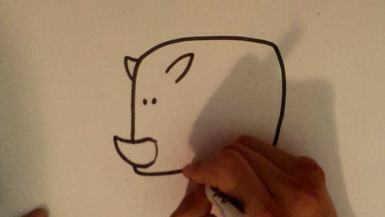 Uncategorized Rhinoceros Drawing how to draw a rhino easy drawings youtube