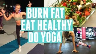 Fat Burning Bodyweight Workout | What I Eat + Yoga Event