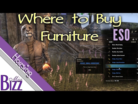 Where to Buy Furniture in ESO - Elder Scrolls Online Homestead Buying Furniture