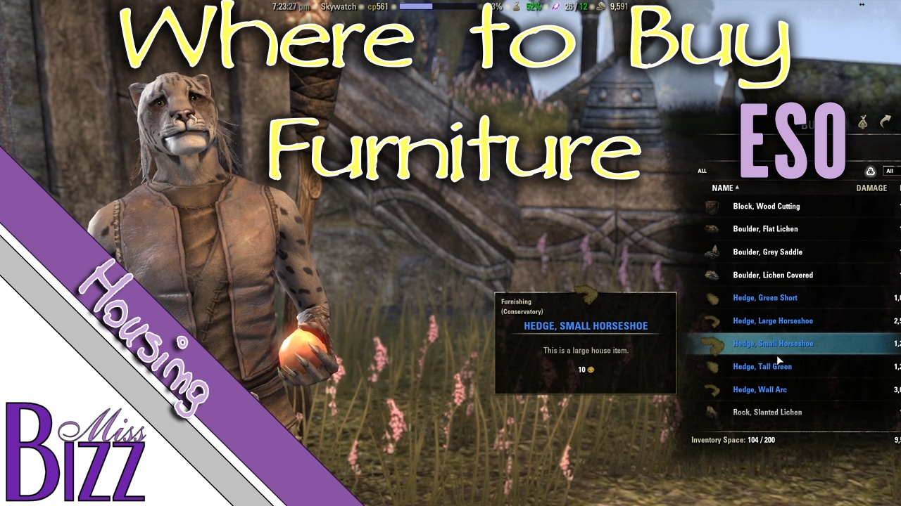 where to buy furniture in eso elder scrolls online homestead buying furniture youtube. Black Bedroom Furniture Sets. Home Design Ideas