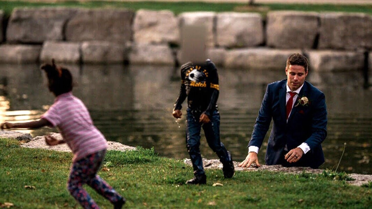Groom Saves a Child From Drowning During His Wedding Day Photo Shoot