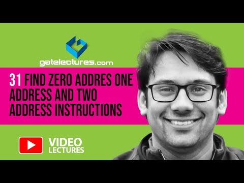 31 Find Zero Addres one address and two Address instructions