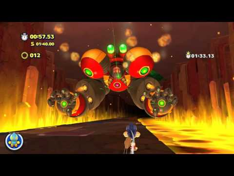 Sonic Lost World - Lava Mountain Zone 4 (Time Attack Rank S)
