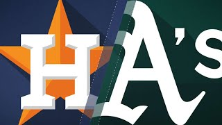 A's hit five homers in 10-2 win over Astros: 9/10/17