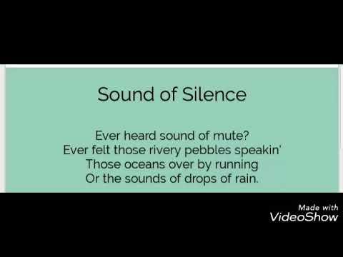 sound of silence poem