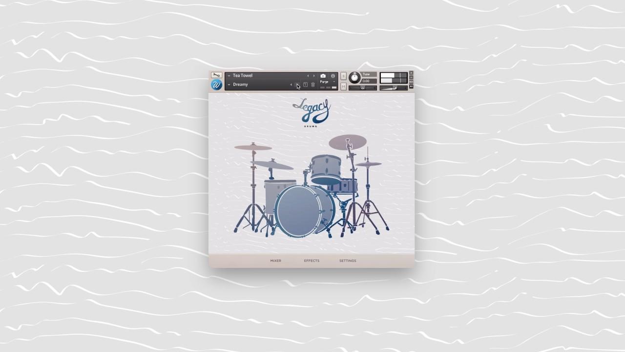 Legacy Drums - 3 Classic Rock, Jazz, Tea Towel kits