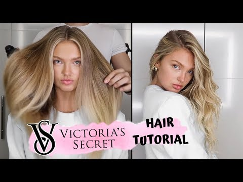 Victoria's Secret Hair Tutorial // Romee Strijd