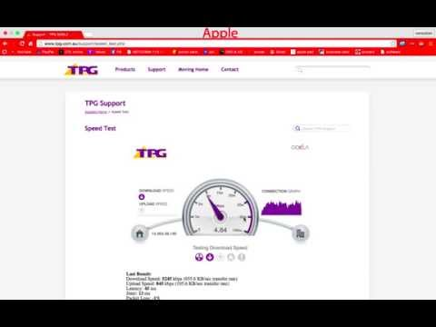 Adelaide TPG ADSL2+ Speed Test