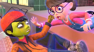Nick Love Tani - (Part 6) My Girl Firend is a Zombies (End) - Scary Teacher 3D BuzzFamily Animation