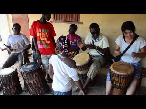 Playing the Djembe① ~ Bobo Dioulasso in Burkina Faso ~